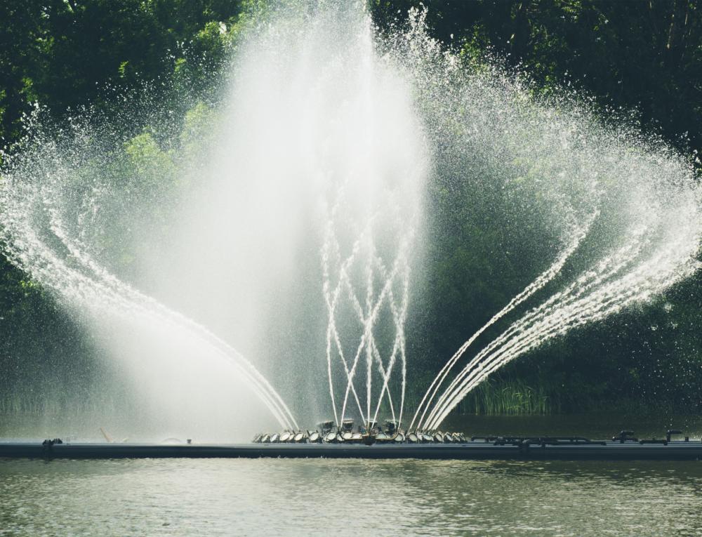 Springbrunnen, Fontänen